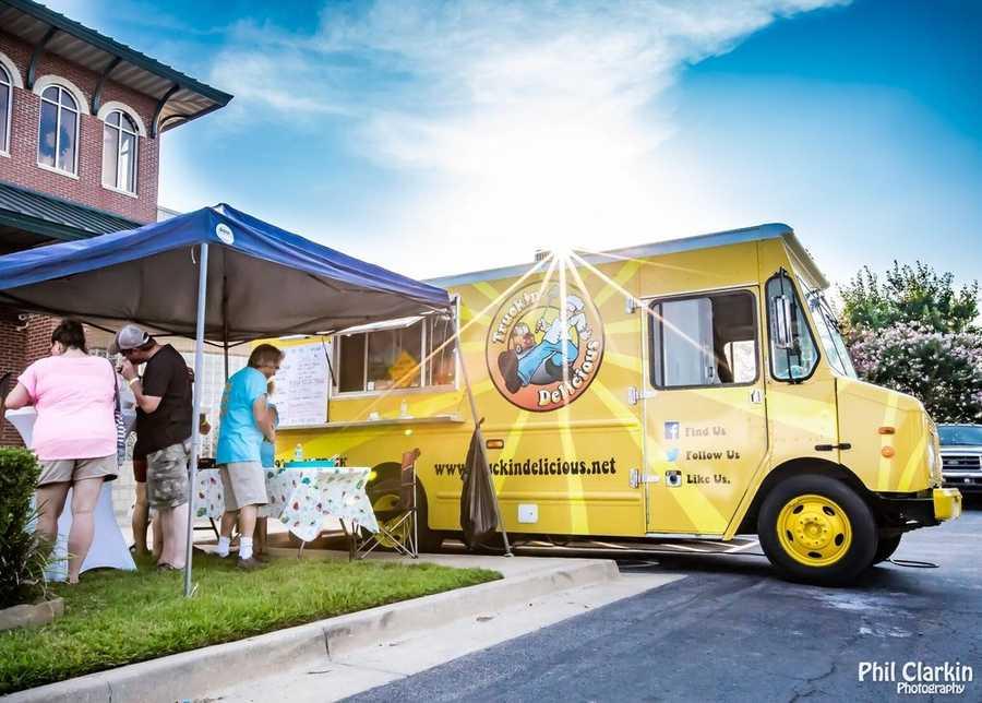 "Truckin Delicious in the Greenwood/Van Buren area. They serve ""upscale southern cuisine."""