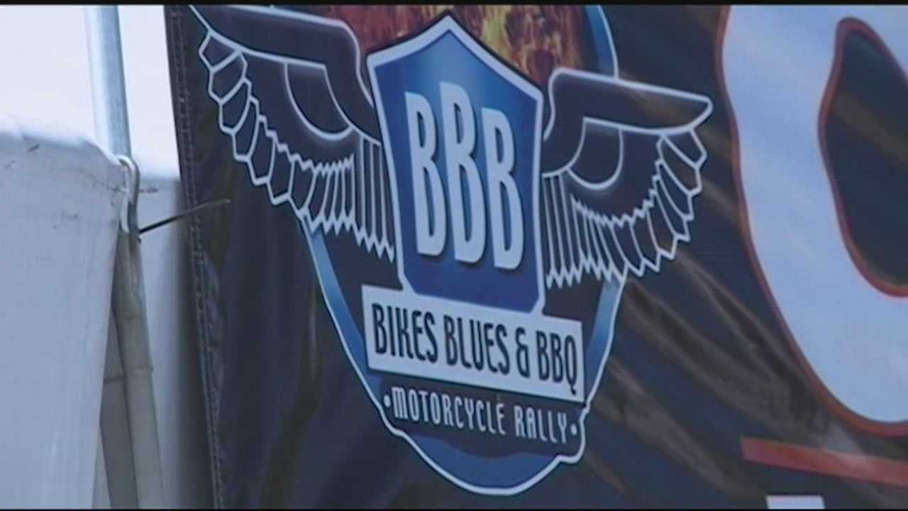 Bikes Blues and BBQ preparations beginnning in Fayetteville