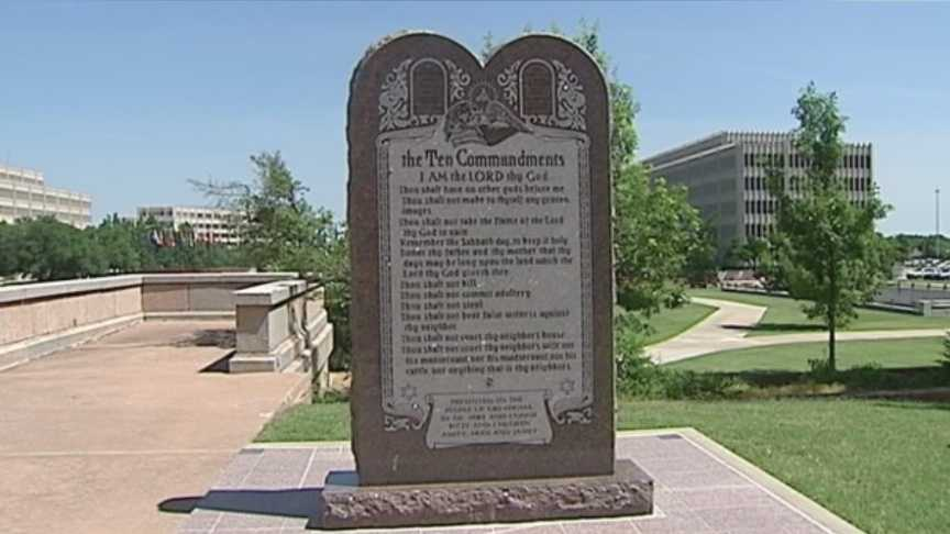 Ten Commandments Monument in Oklahoma Ciy