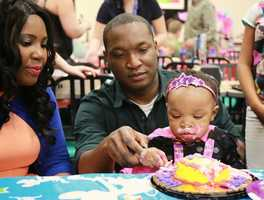 Ugochi's 18 month old Skylar had her first birthday party and Chuckie cheese and man was it hectic.