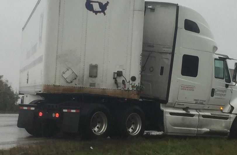 ASP said semi-truck lost control of the truck near exit 67 in Fayetteville.