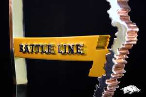 """If Missouri wins, the """"Battle Line"""" that serves as the border between the two states in the trophy, will be gold"""