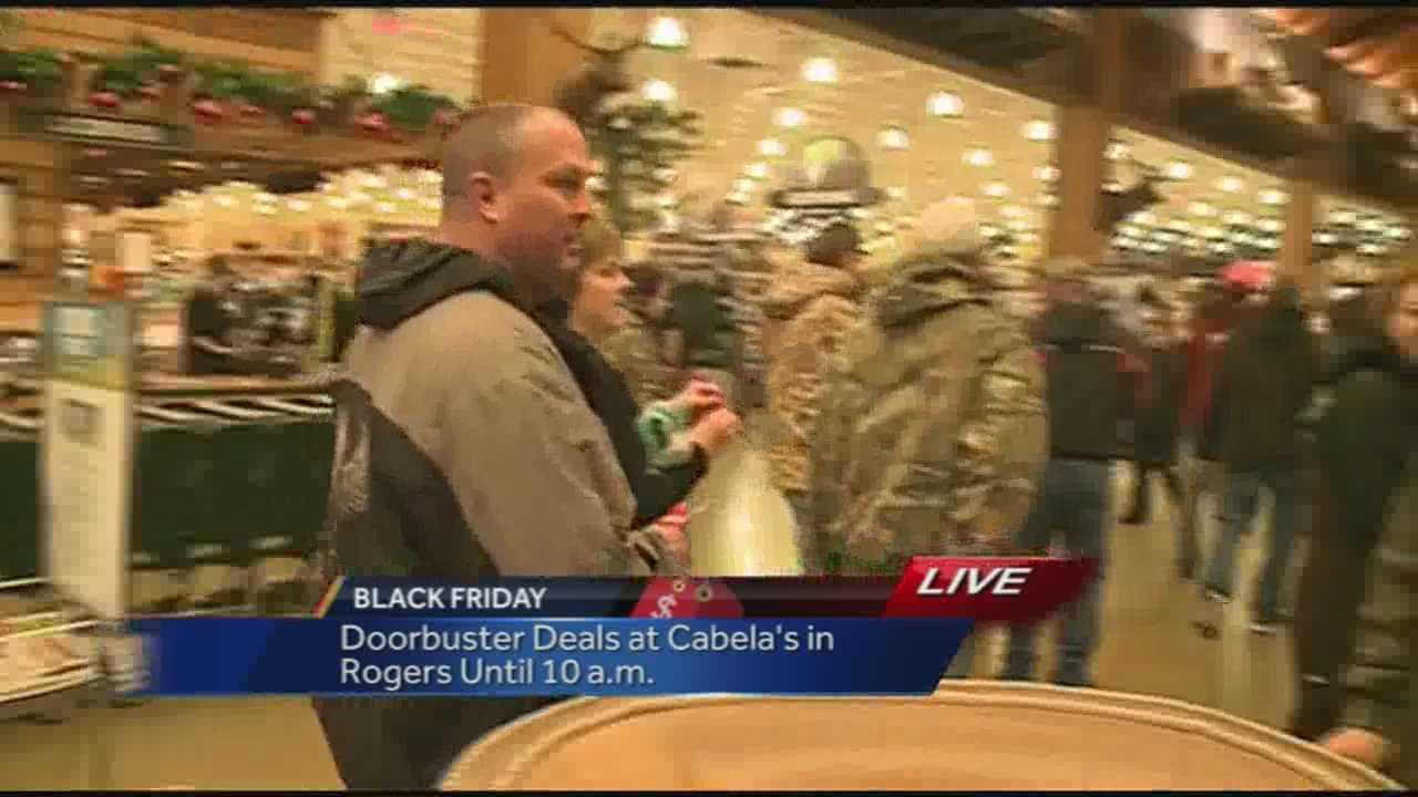 Hundreds of Black Friday shoppers got up early to head to Rogers and stores in the Promenade area.