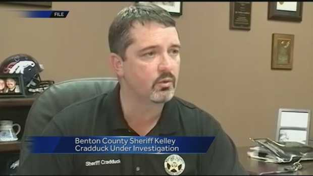 Arkansas State Police began an investigation into Benton County Sheriff Kelley Cradduck following grievances filed by two county employees.  ASP executed a search warrant and investigators confiscated several documents from the sheriff's office.