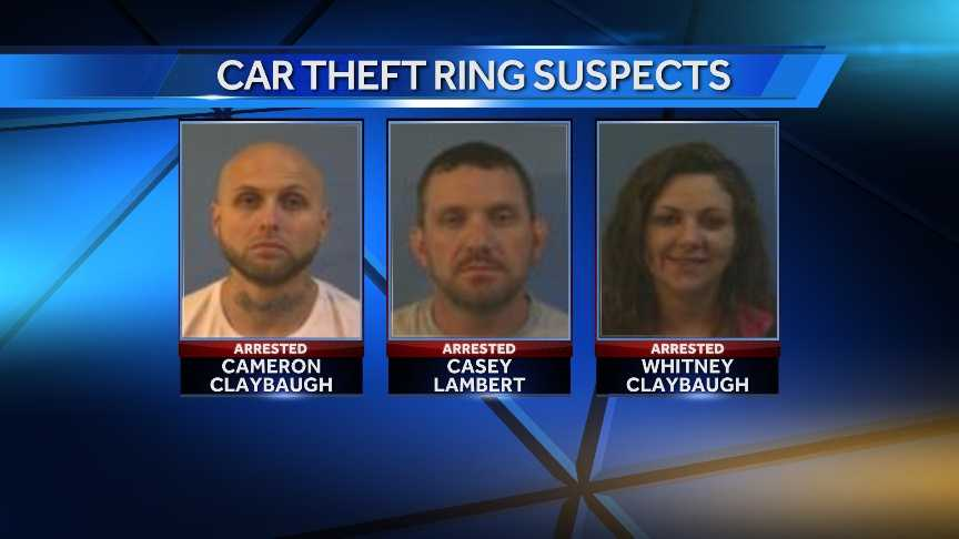 3 stolen car suspects