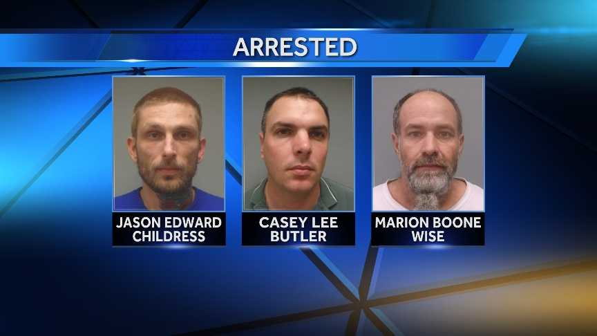 three arrested in suspected crime ring