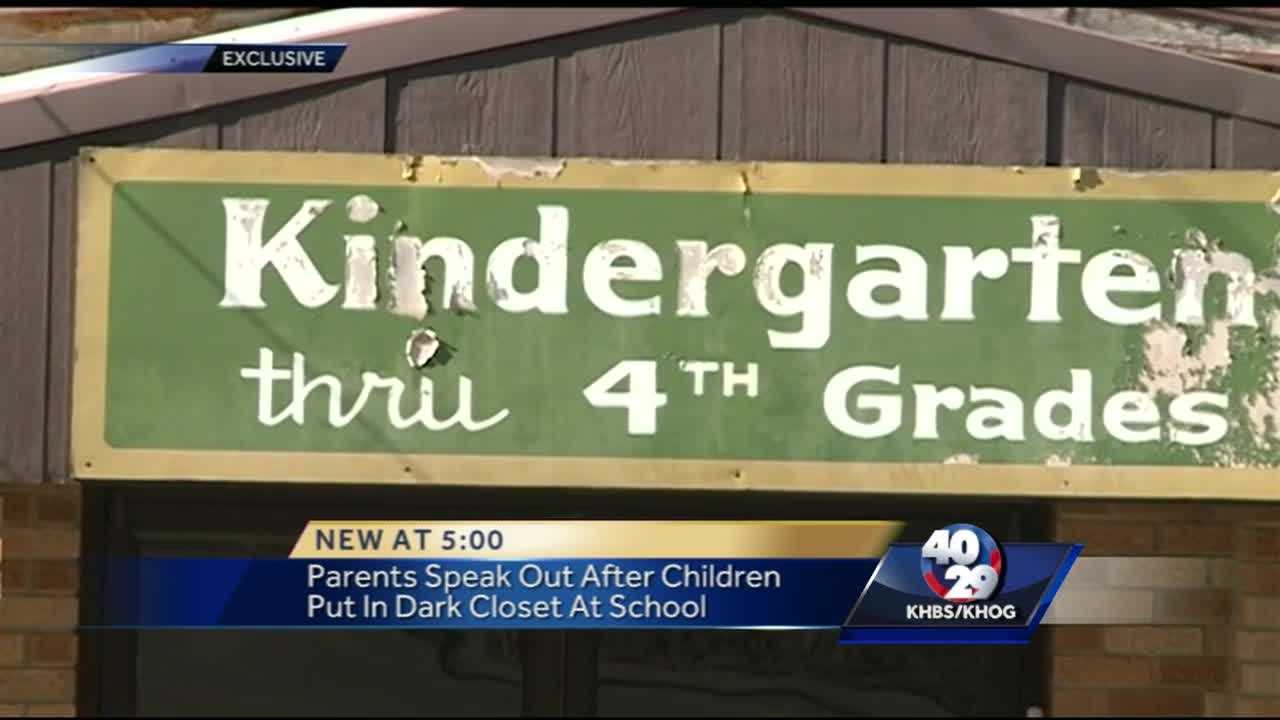 Parents speak out after children locked in closet by school employee
