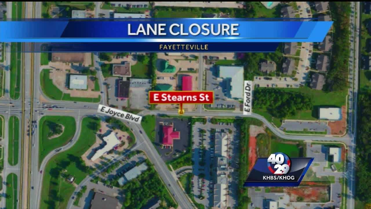 Lane closures in Fayetteville for construction