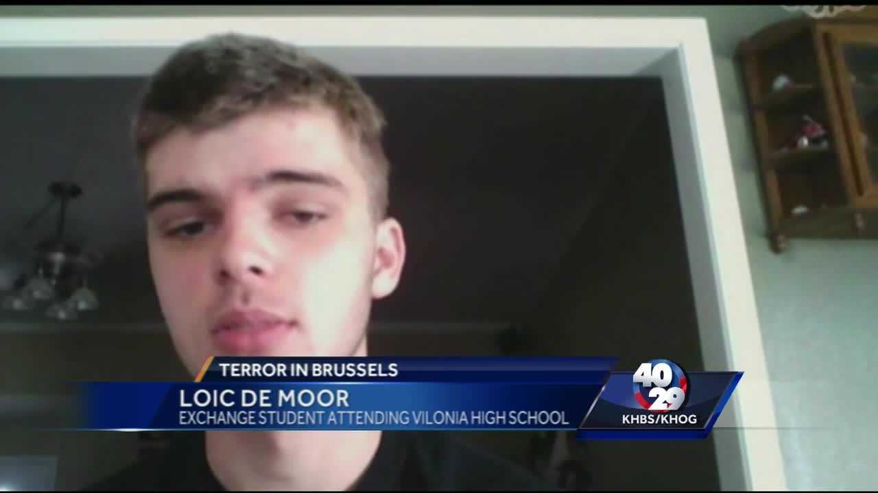 Belgian student in Arkansas talks about the Brussels terror attack