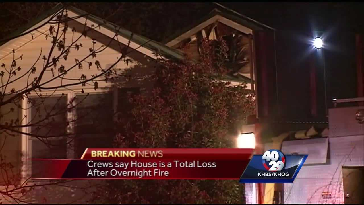 Home destroyed after fire in Prairie Grove