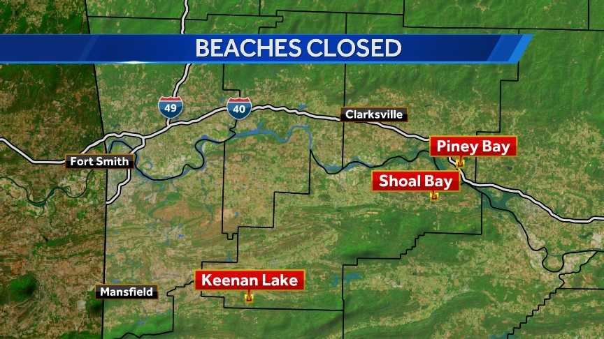 e coli beaches map jun 3