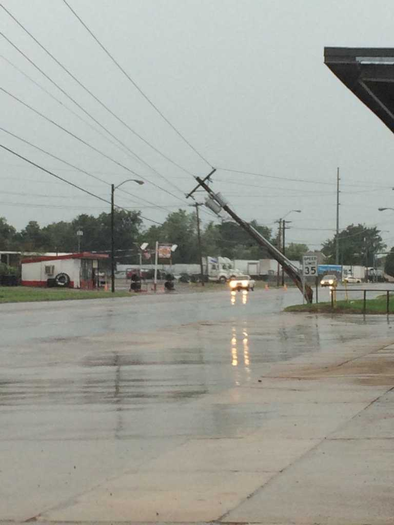 A power line is down here on Midland Blvd not too far from Kelley Highway