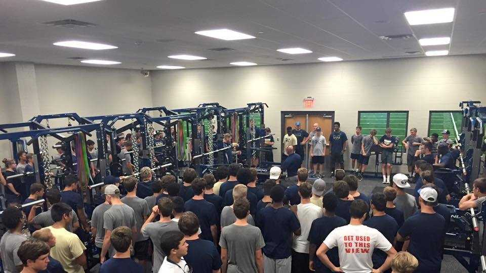 The Wolverines get their first look at their new weight room