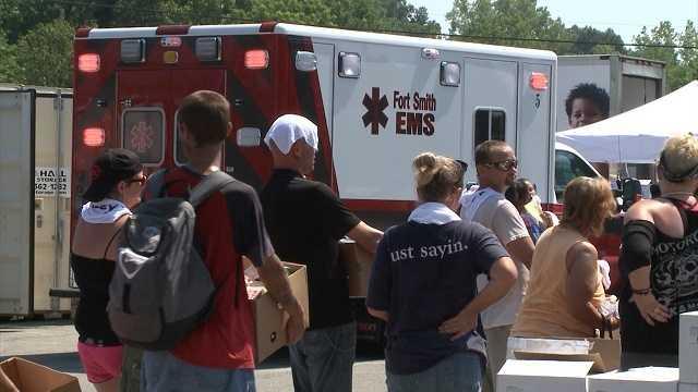 Medics treat dozens for heat exhaustion