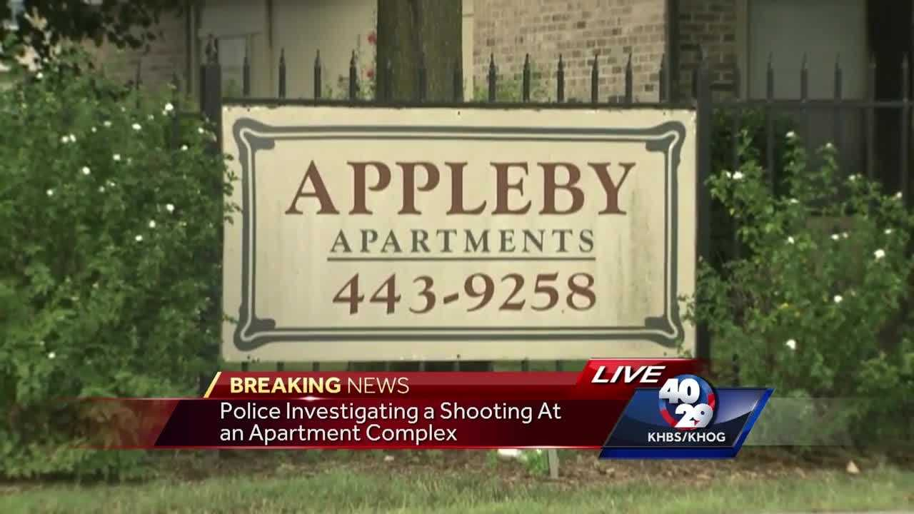 Police say they responded to a shooting at Appleby Apartments overnight.