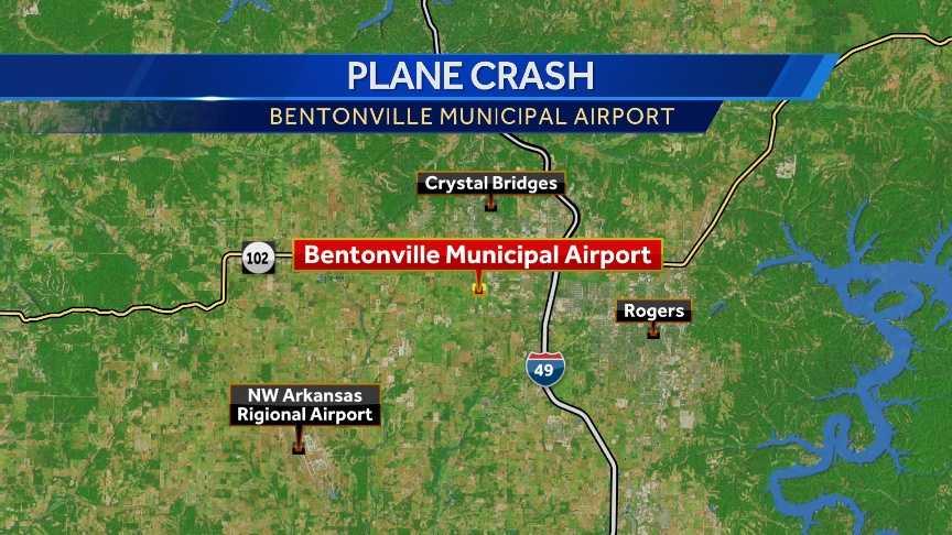 The Bentonville Municipal Airport is northeast of the larger Northwest Arkansas Regional Airport (XNA).