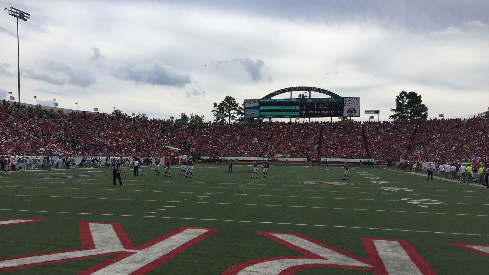 Hogs host Alcorn State in War Memorial Stadium