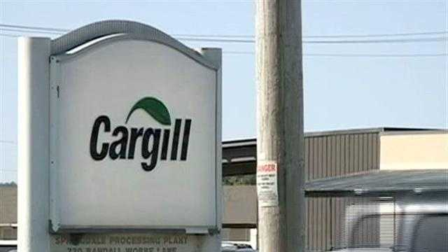 The Cargill plant in Springdale laid off employees who worked within the ground turkey production.