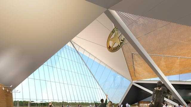 Artist's rendering of the proposed US Marshals museum to be built in Fort Smith.