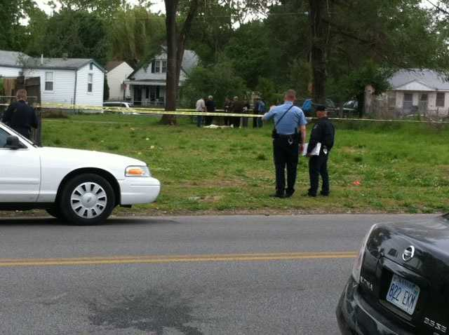 Kansas City, Kan., police investigate after a body was found in a vacant lot near Ninth Street and Argentine Boulevard late Friday morning.