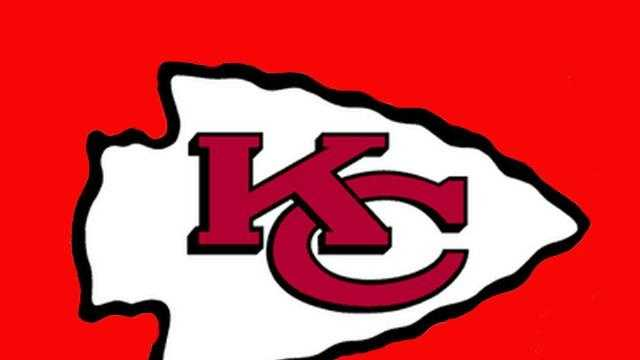 KC Chiefs logo on red background - 4984345