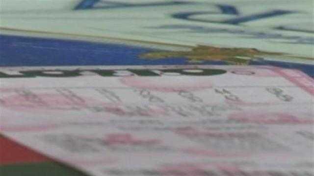 Missouri lottery ticket