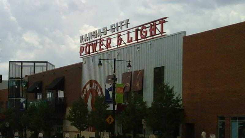 The Power & Light District in downtown Kansas City