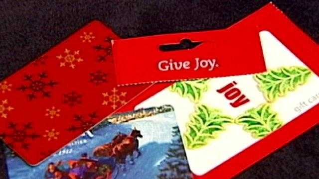 gift cards generic, with Christmas and holiday images - 18147025