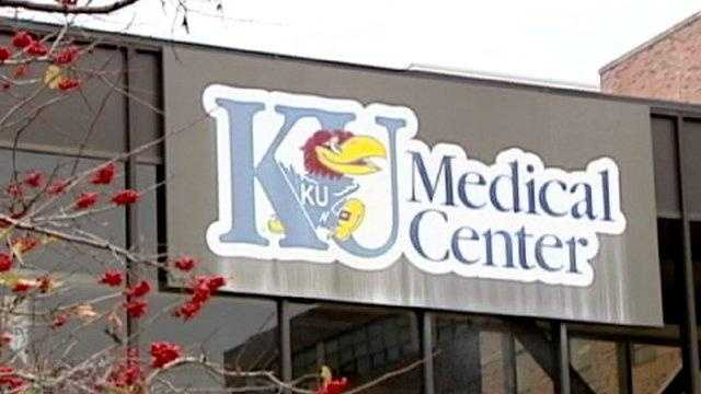 KU Med Center sign, University of Kansas medical, hospital - 18002931