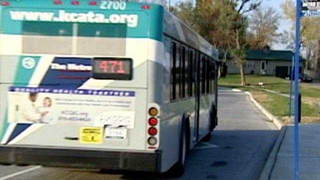 city bus, kansas city metro line, rear shot - 17884349