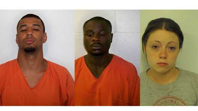 Brandon Simpson, James Gant and Lauren Gabbard are charged with murder in the death of Michelle Rheuport