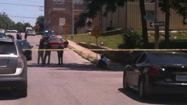 Bicycle car crash scene