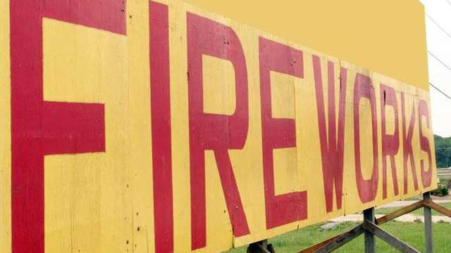 Fireworks stand sign