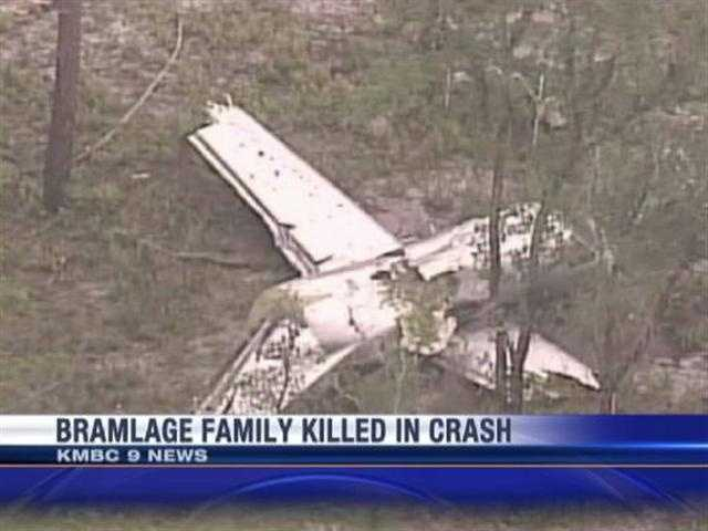 Crash scene where the Bramlage plane went down in Florida.