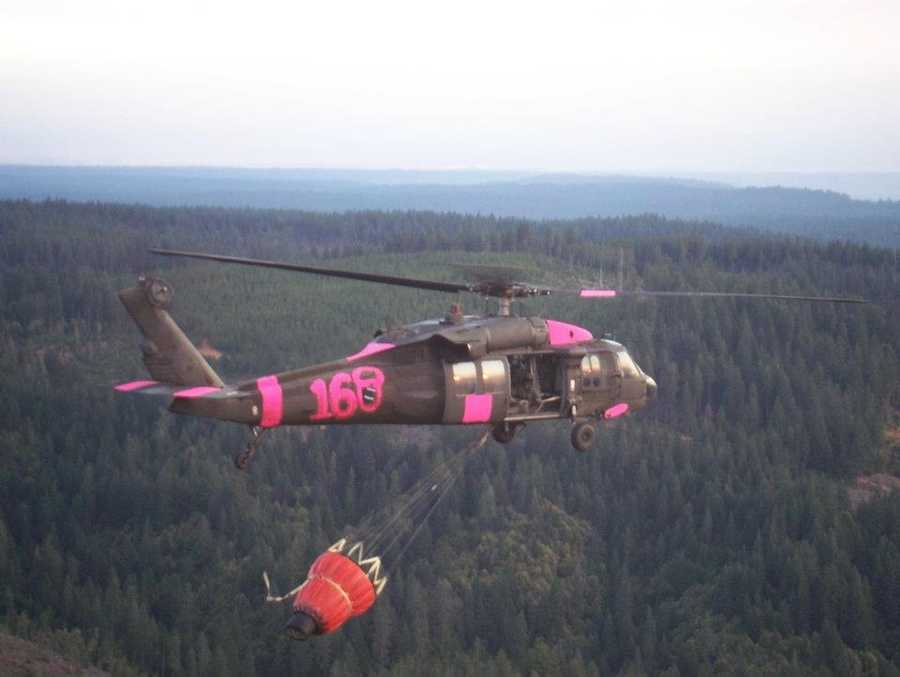 A Black Hawk helicopter and nine soldiers from the 1st Battalion, 108th Aviation Regiment will help fight the fires, which are centered in an area 15 miles west of Fort Collins.