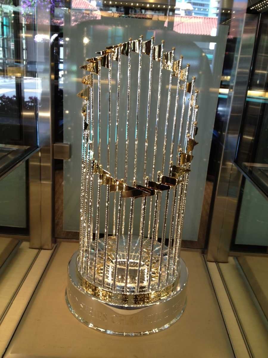 The team that wins the 2012 World Series will receive this trophy.