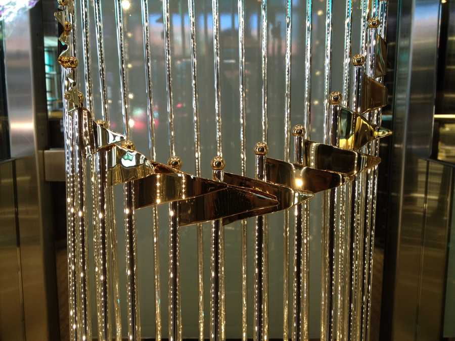 The World Series Trophy is on display at Tiffany's on the Plaza until July 4.