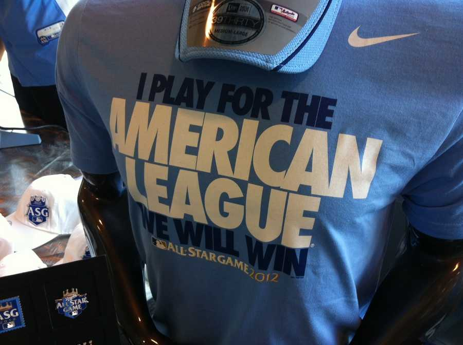 An American League t-shirt