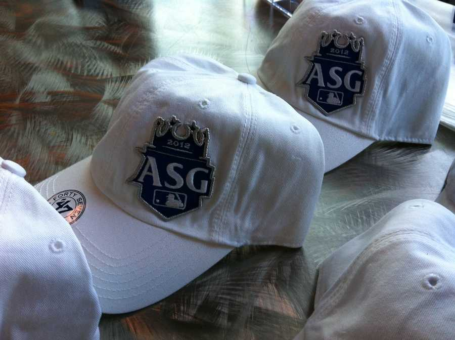 White All-Star Game hats.