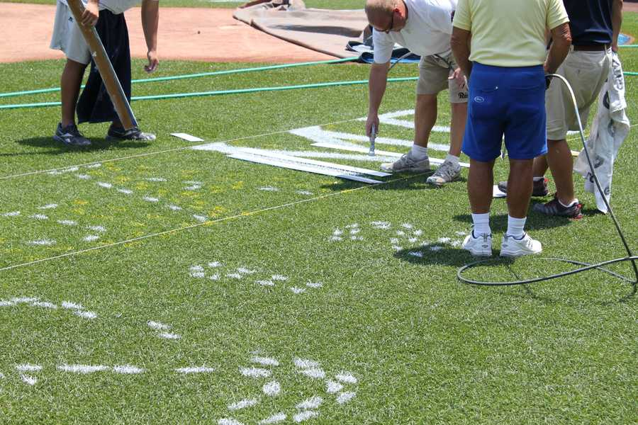 All-Star logo painting along third base.