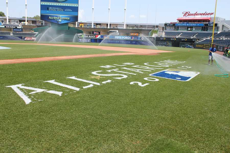 The water is on at the K to prevent the grass from getting too dry.