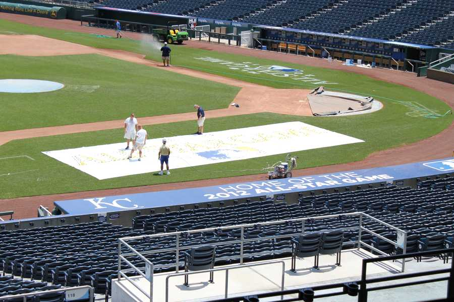 The All-Star Game logo along the third base side.