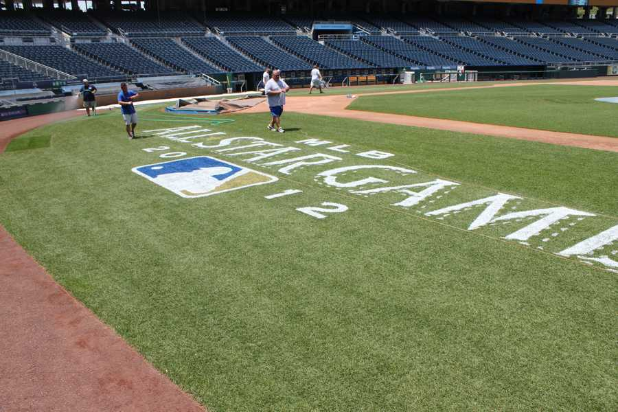 Another view of the All-Star logo along the first base side.