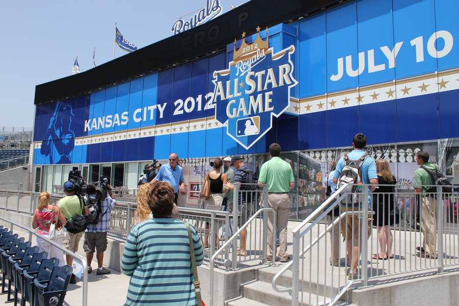 The MLB Fan Cave will be located outside the Royals Hall of Fame.