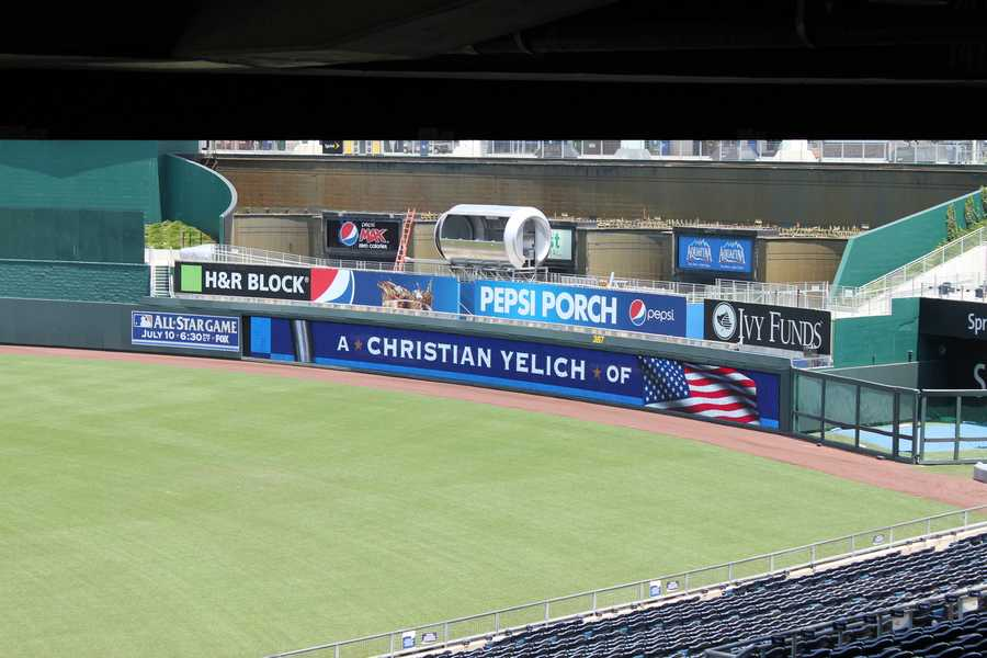 A large Pepsi Can is being built in the outfield.  Select fans will get to sit there.