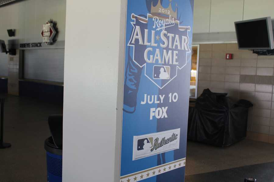 More All-Star Game signage in Kauffman Stadium.
