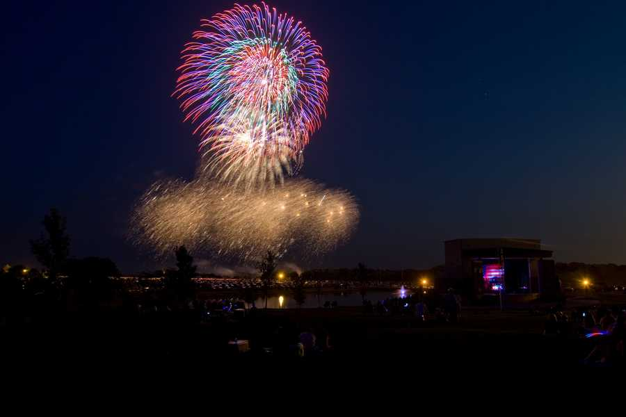 The warmest July 4th in Kansas City was 108 degrees in 1936 (Kearney 4th of July fireworks image by philtunes)