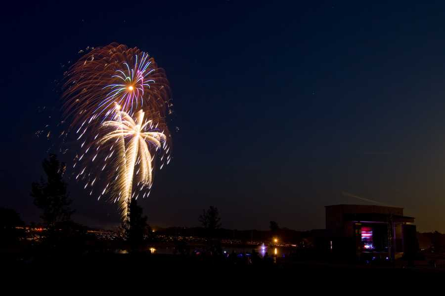 The last 100 degree 4th of July in Kansas City was on July 4, 1954 at 103 degrees. (Kearney 4th of July fireworks image by philtunes)
