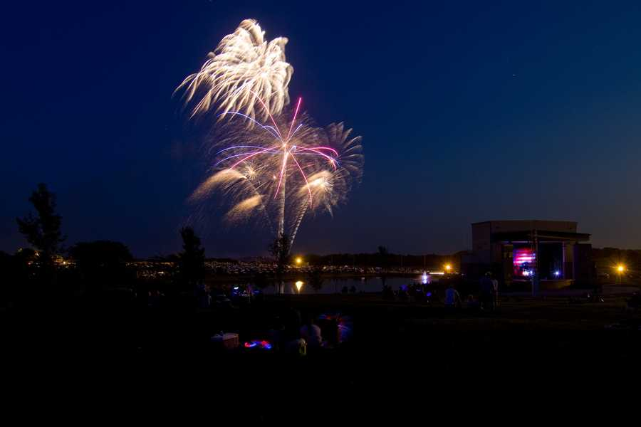"""The last time it rained on the 4th of July in Kansas City? 2010 with 1.71"""". (Kearney 4th of July fireworks image by philtunes)"""