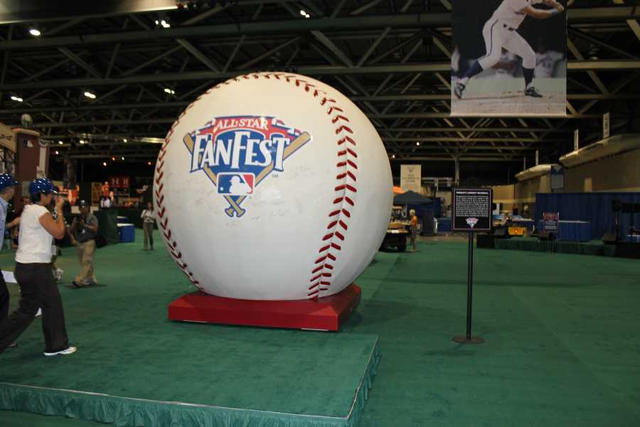 The Guinness Book of World Records has certified that this is the world's largest baseball.